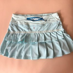 Lululemon tennis skirt with built in shorts.